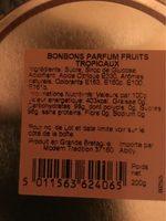 Bonbons de voyage (travel sweets) - Thành phần - fr