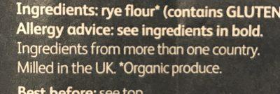 Rye Flour - Ingredients