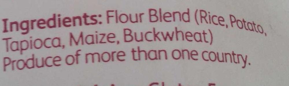 Plain white flour blend - Ingrediënten