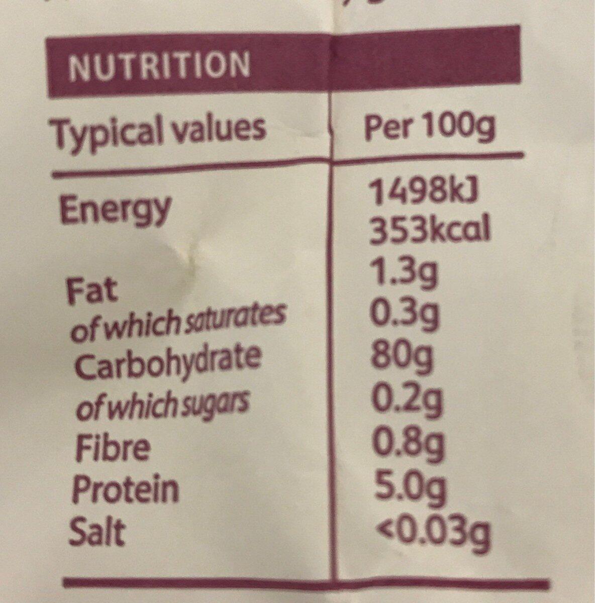 FREEE by Doves Farm Plain White Flour Free From Gluten - Nutrition facts - en