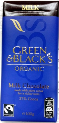 Green & black's organic chocolate bar milk chocolate - Product - en