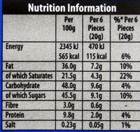 Green & black's organic chocolate bar milk chocolate - Nutrition facts - en