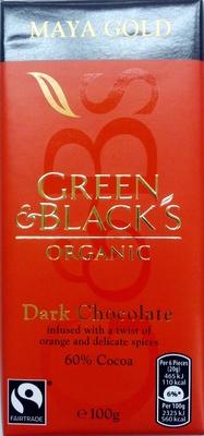 Green & black's organic chocolate bar maya gold - Product - en