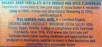 Green & black's organic chocolate bar maya gold - Ingredients