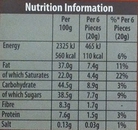 Green & black's organic chocolate bar maya gold - Nutrition facts - en