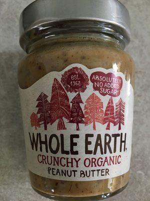 Crunchy Organic Peanut Butter - Whole Earth - 227G - Product