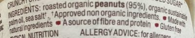 Crunchy Organic Peanut Butter - Whole Earth - 227G - Ingredients