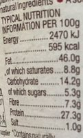 Crunchy Organic Peanut Butter - Whole Earth - 227G - Nutrition facts