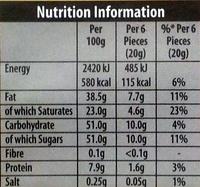Green & black's organic chocolate bar white - Nutrition facts - en