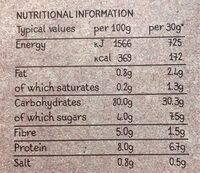 Whole Earth Golden Organic Corn Flakes - Nutrition facts