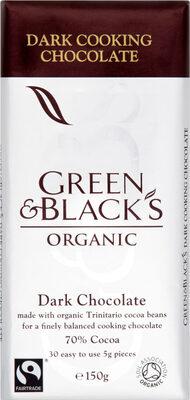 Black's Organic Cooking Dark Chocolate Bar - Product - en