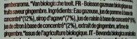 Organic Sparkling Ginger - Ingrediënten - fr