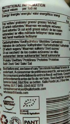 Organic Sparkling Ginger - Voedingswaarden - fr