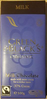 Green & Black's Organic Milk Chocolate - Product - en