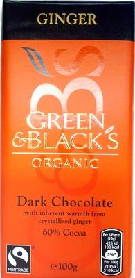 Green & black's organic chocolate bar ginger - Produit - en