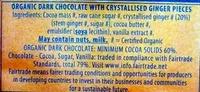 Green & black's organic chocolate bar ginger - Ingrédients - en