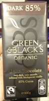 Green & black's organic chocolate bar 85% dark - Product - en