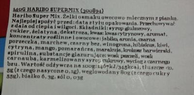 Haribo Supermix - Składniki - pl