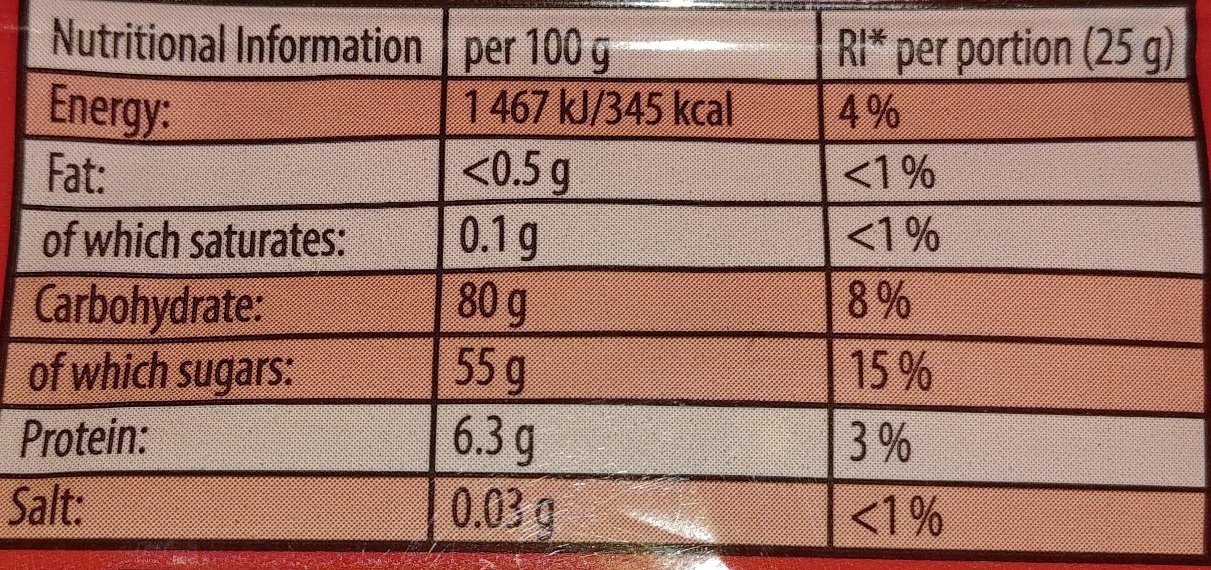 Haribo Supermix - Wartości odżywcze - pl