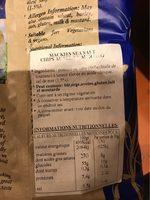 Mackie's Sea Salt Thick Cut Crisps - Informations nutritionnelles