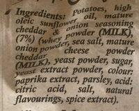 Mature cheddar & onion - Ingredients - en