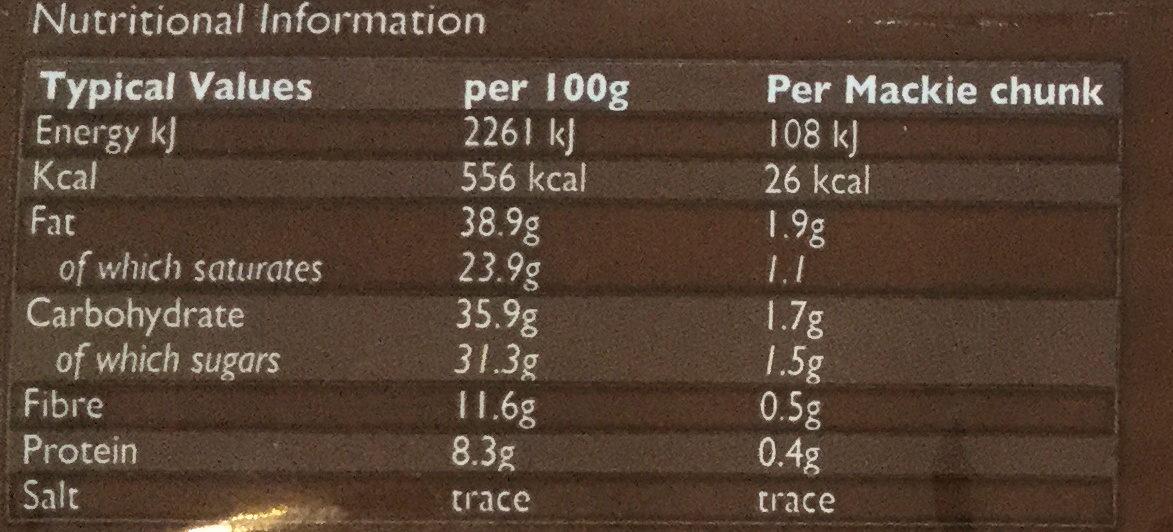 Dark 70% cocoa - Nutrition facts - en