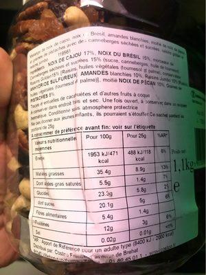 Sun Valley Natural Fruit & Nuts 1.1KG - Informació nutricional