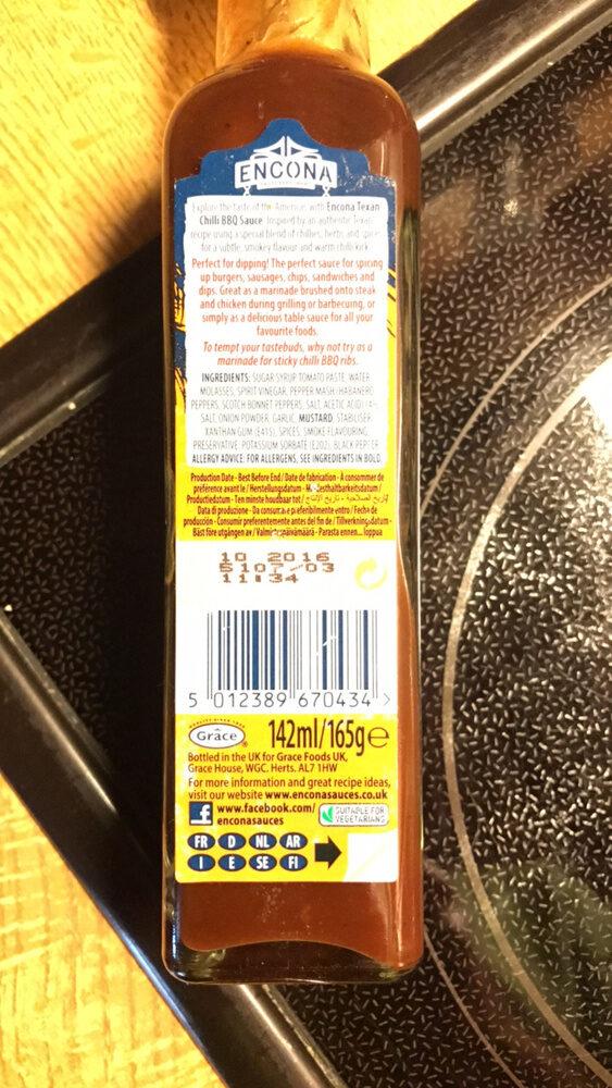 Sauce Encona Barbecue Au Piment - Nutrition facts