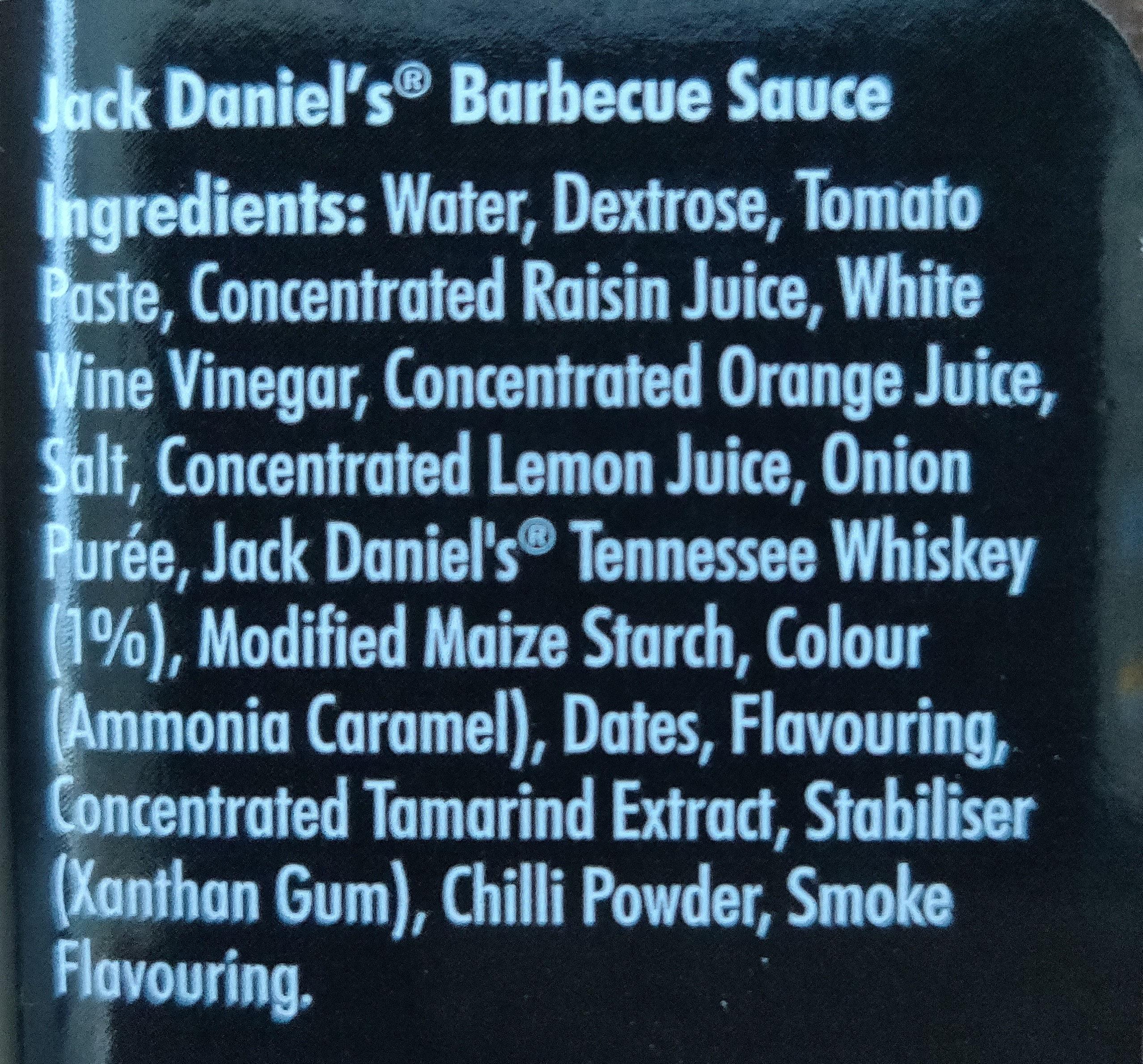 Jack Daniels BBQ Sauce - Ingredients