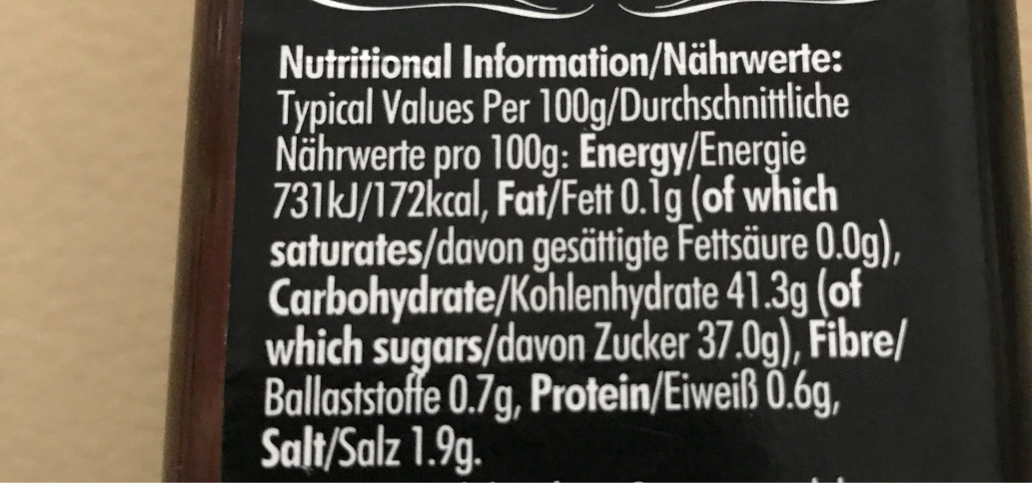 Barbecue Sauce Full Flavor Smokey - Nutrition facts - fr