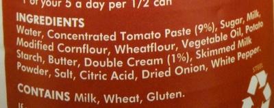 Cream of Tomato - Ingrédients - en