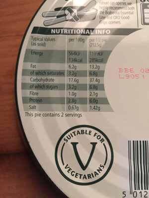Vegetable balti - Nutrition facts - en