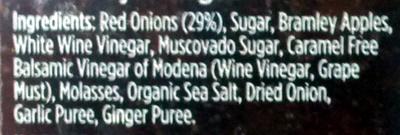Caramelised Red Onion Chutney - Ingredienti - en