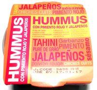Hummus con pimiento rojo y jalapeños - Producto - es