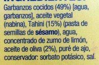Hummus con aceite de oliva - Ingredients - es