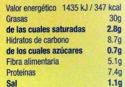 Hummus con aceite de oliva - Nutrition facts - es