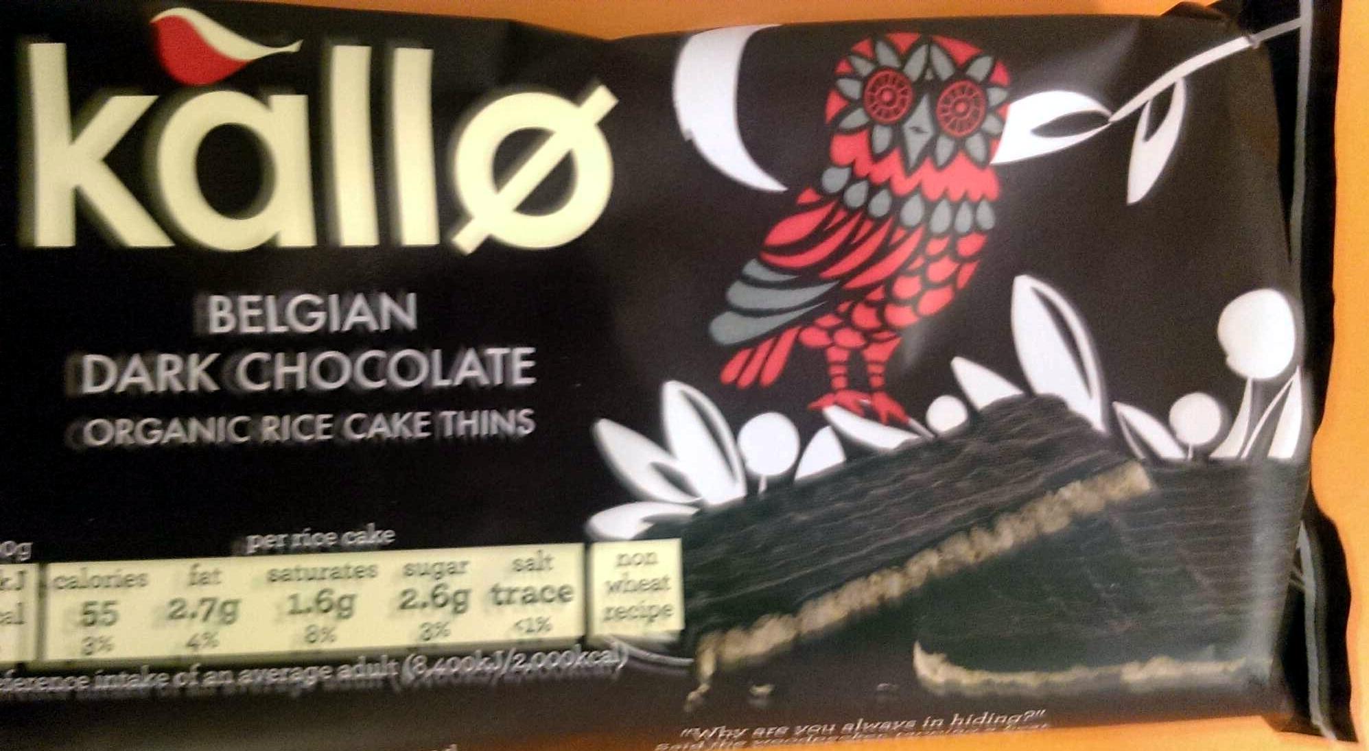 Organic Belgian Dark Chocolate Rice Cake Thins - Product - en