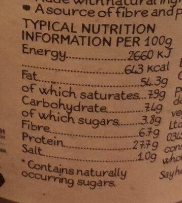 Crunchy Peanut Butter - Información nutricional - en