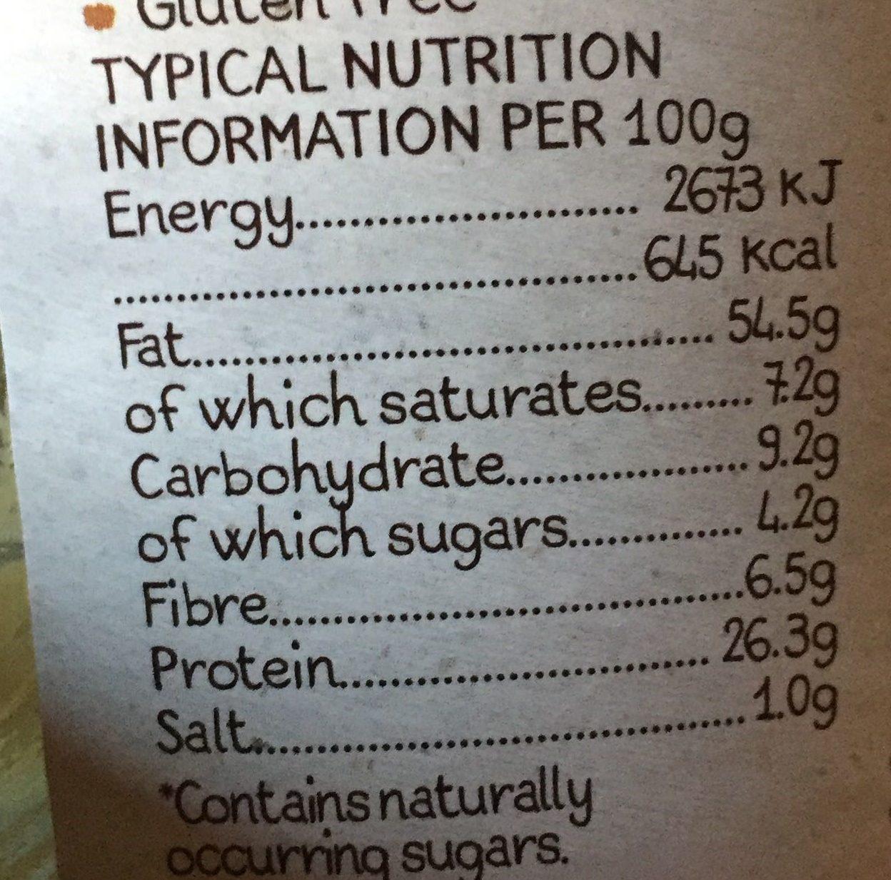 Beurre de Cacahuètes Crémeux - Nutrition facts - en
