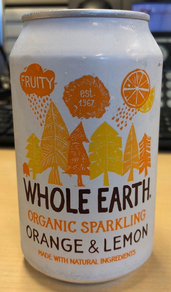 Organic sparkling orange & lemon - Product - fr
