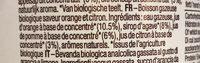 Organic sparkling orange & lemon - Ingredients - fr