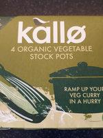 kallo organic vegetable stock pots - Product