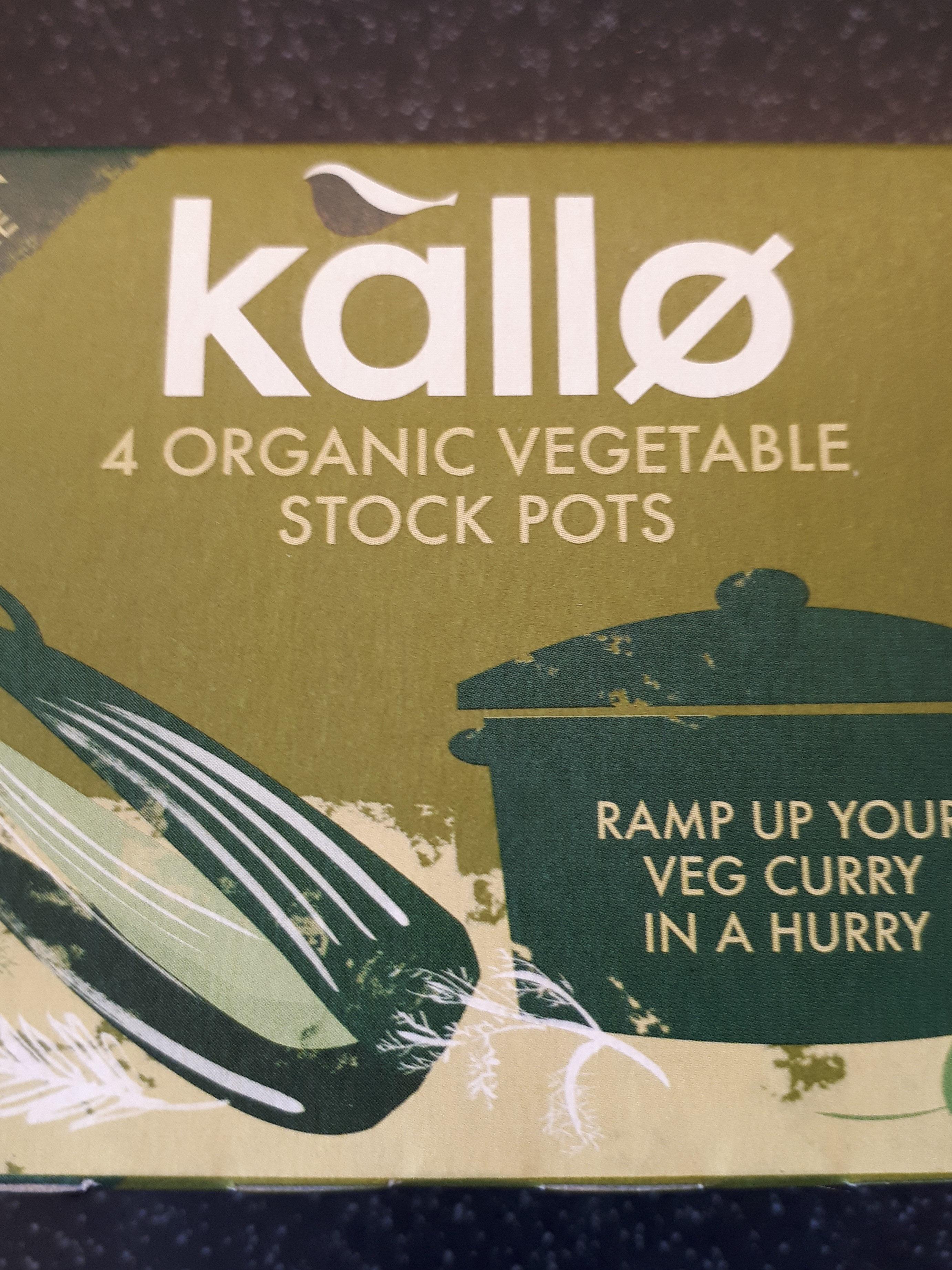 kallo organic vegetable stock pots - Product - en