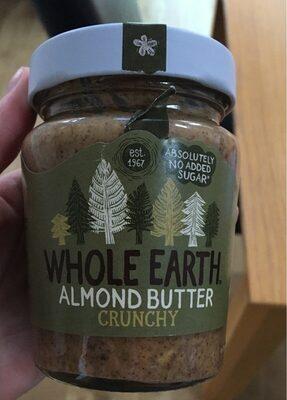 Whole earth crunchy almond butter - Produkt - en