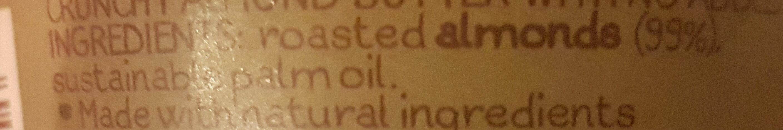 Whole earth crunchy almond butter - Inhaltsstoffe - en