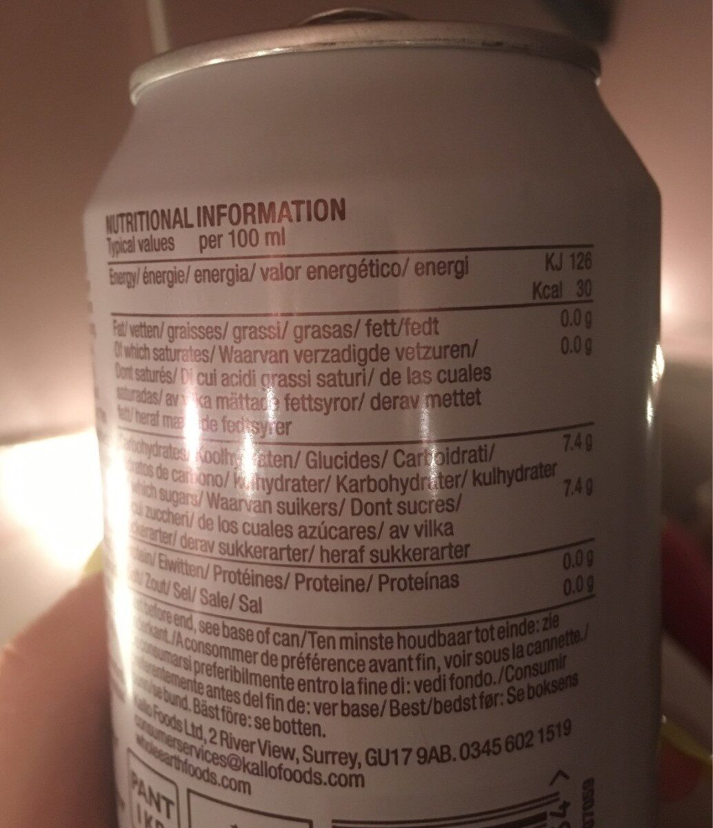 Refresco de sandía sin azúcar ecológico - Nährwertangaben - fr