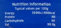Vegetable Oil - Informations nutritionnelles - en