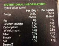 Organic Marinated Tofu - Informations nutritionnelles - en