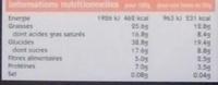 Barres enrobées aux fruits secs Amande & Abricot - Voedingswaarden - fr