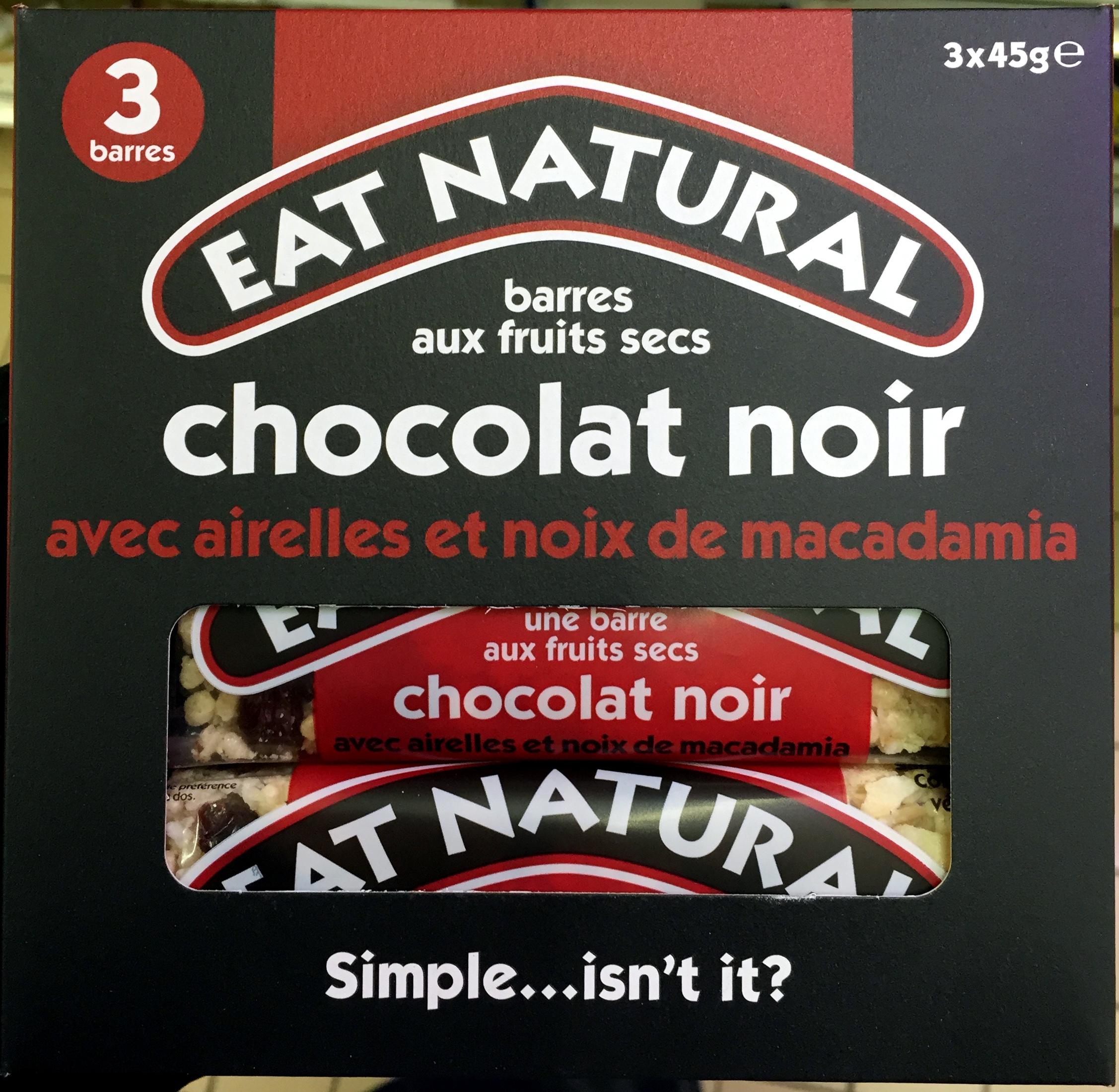 Bat fruits secs choco noir acec airelles et noix de macadamia - Product - fr